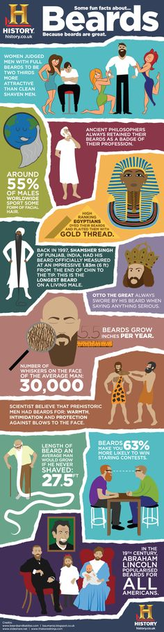 BEARD INFOGRAPHIC: If you've seen Duck Dynasty or Mountain Men you will have realised by now that beards are great.