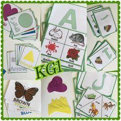 Handmade customizable full set of KG1 flash cards (Science, English, Math, French, Espagnol, Arabic)