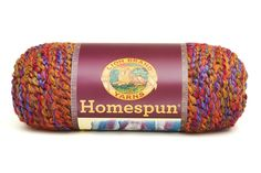 HOMESPUN- CORINTHIAN - Soft, silky and beautiful! A uniquely textured yarn that works up quickly and easily. From shawls to sweaters to throws, this yarn can't be beat for softness and sheer touch-ability. With solids, heathers, and beautiful self-striping 'painterly' colors, Homespun comes in gorgeous shades you'll love.