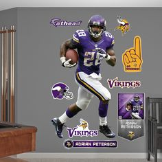 Fathead 'Adrian Peterson' Wall Decals