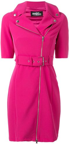 Jeremy Scott zipped shoulders belted dress | #Chic Only #Glamour Always