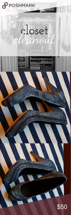 Spotted while shopping on Poshmark: Diesel Denim Pumps! #poshmark #fashion #shopping #style #Diesel #Shoes