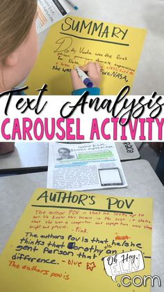 Text Analysis Lesson and Freebie