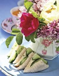 Cream Cheese and Cucumber Tea Sandwiches. A yummy snack to bring on a picnic with Adele or wooing Ms. Ingram on a afternoon ride.