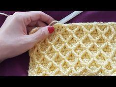 to view English subtitles,please hit CC Crochet Stitches Patterns, Crochet Motif, Knit Crochet, Knitting Patterns, Crochet Hooded Scarf, Knitted Headband, Honeycomb Stitch, Crochet Bookmarks, Crochet Circles
