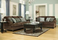 Crawford Chocolate Living Room Set