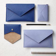 Leather Envelope Card Case #westelm