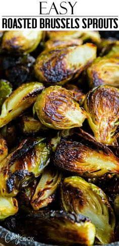 This easy roasted brussels sprouts recipe is so flavorful with a touch of honey and an optional addition of garlic and bacon! This easy roasted brussels sprouts recipe is so flavorful with a touch of honey and an optional addition of garlic and bacon! Roasted Sprouts, Sprouts With Bacon, Roasted Vegetables, Roasted Garlic Brussel Sprouts, Healthy Brussel Sprout Recipes, Sprouts Food, Veggies, Bacon, Garlic