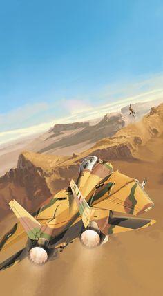 Работы французского художника Christophe Gibelin | War Wallpapers Grumman F-14 Tomcat