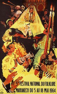 The 5th Marrakech National Festival of Folklore in 1964. - Maroc Désert Expérience tours http://www.marocdesertexperience.com