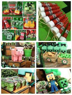 Ideias e inspirações para Festa Minecraft! Lembrancinhas, personalizados, docinhos, bolos e muito mais!