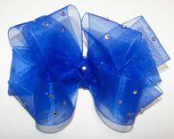 Custom Color Choice Glitzy Organza Girls Hair Bow