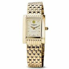 """Northwestern University Women's Swiss Watch - Gold Quad Watch with Bracelet by M.LaHart & Co.. $379.00. Three-year warranty.. Swiss-made quartz movement with 7 jewels.. Officially licensed by Northwestern University. Classic American style by M.LaHart. Attractive M.LaHart & Co. gift box.. Northwestern University women's gold watch featuring NU seal at 12 o'clock and """"Northwestern University"""" inscribed below on cream dial. Swiss-made quartz movement with 7 jewels. Cream dial with..."""