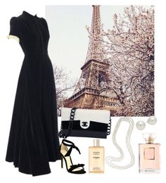 """""""Paris"""" by shurmanira ❤ liked on Polyvore featuring John Lewis, Alexandre Birman, Chanel and AK Anne Klein"""