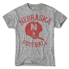 Nebraska Football T-Shirt xo College T Shirts, Gym Shirts, Cool Shirts, Awesome Shirts, Vintage Football Shirts, Softball Shirts, Mustang T Shirts, Nebraska Football, School Spirit Shirts
