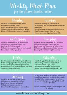 Free Weekly Meal Plan For Workouts