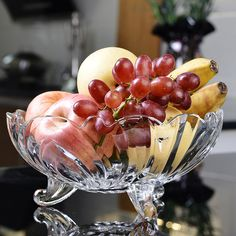 Personalized glass fruit bowl with stand wholesale Glass Fruit Bowl, Punch Bowls, Plates, Licence Plates, Plate, Dish, Dishes, Plate Racks