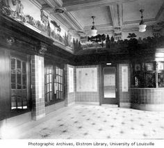 Broadway Theatre, lobby 1915 ticket prices Adults 10 cents, Children 5 cents. :: Images of Kentucky and Environs