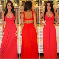Sexy red maxi dress..LoVe!