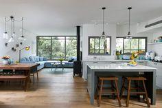 מחוברת לטבע: שיפוץ דירה פנורמית בצפון תל אביב | בניין ודיור אדריכלות ועיצוב פנים: מיה ורונית עיצוב פנים והום סטיילינג