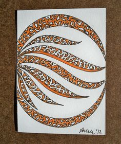 Circle of Fire Original ACEO by ellemardesigns on Etsy, $8.00
