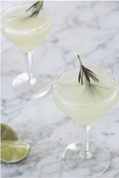 Rosemary Gin Gimlet 2 gin  2 lime 1 syrup