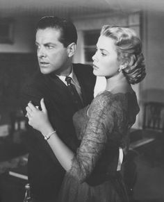 Grace Kelly and Robert Cummings in 'Dial M For Murder', 1954.