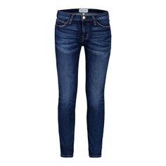 Current/Elliott Stiletto Mid-Rise Skinny Jeans - Dark Wash Faded Skinny Jeans - ShopBAZAAR