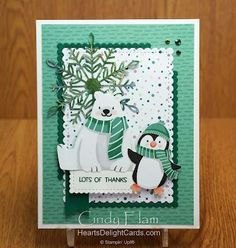 CCM Saturday Blog Hop - Goodbye Sale-a-Bration Stampin Up Christmas, Christmas Minis, Christmas And New Year, Christmas Cards, Xmas, Penguin Images, White Polar Bear, Cute Penguins, Stamping Up Cards