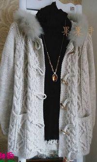 Схема пальто спицами