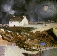 'A frosty moon'  by Louise O'Hara of DrawntoStitch www.drawntostitch.com