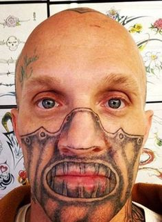 Home of Weird Pictures, Strange Facts, Bizarre News and Odd Stuff Bad Tattoos Fails, Awful Tattoos, Funny Tattoos, Worst Tattoos, Crazy Tattoos, Creepy, Facial Tattoos, Bad Face Tattoos, Wtf Face