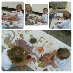 Painting with food = edible fun!