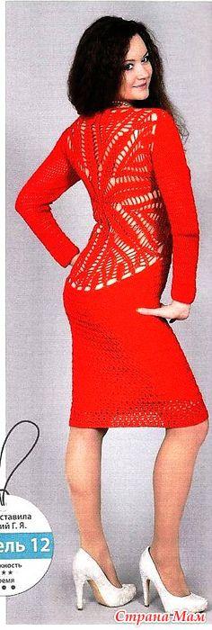 . Соблазнение. Ярко-красное платье. - Все в ажуре... (вязание крючком) - Страна Мам