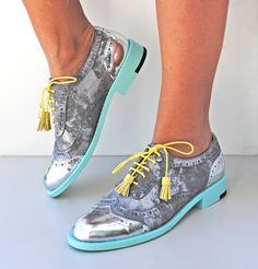 Original ABO brogues available at WWW.ABO-SHOES.COM  #abo-shoes #ABO #shoes #brogues #oxfords #style #fashion #streetstyle #musthave #fashion #belgrade #handmade #design #silver #grey #suede #mint #original #womensshoes