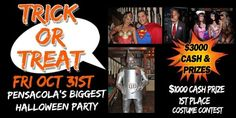 #Pensacola's biggest #Halloween Party & #Costume Contest is at @SevilleQuarter!