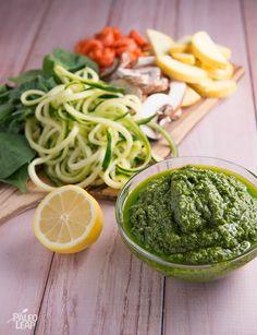 Steamed veggies with pesto preparation