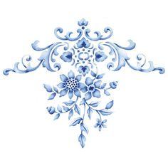 Flower Stencils | Floral Embroidery Centerpiece | Royal Design Studio//GW wardrobe?