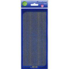 Glitter Dots Assorti Peel-Off Stickers-Blue