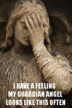 My guardian angel does this often I'm sure. He or she must have a funny sense of humor too because they like to play games with me My Guardian Angel, Funny Captions, Story Of My Life, Just For Laughs, Haha Funny, Funny Today, Laugh Out Loud, True Stories, In This World