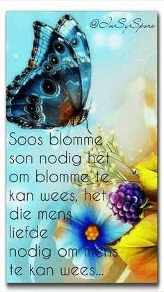 Glitter Paint For Walls, Afrikaanse Quotes, Goeie More, Inspirational Thoughts, Color Splash, Life Lessons, Butterflies, Garden, Do Your Thing