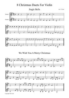 8 Christmas Duets For Violin