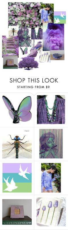 """""""Bursts of Purple Inspiration"""" by pippinpost ❤ liked on Polyvore featuring interior, interiors, interior design, home, home decor, interior decorating, Baccarat, NOVICA, etsy and art"""