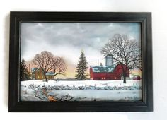 Morning Calls Christmas Picture Barn and by BoggyCreekPrimitive
