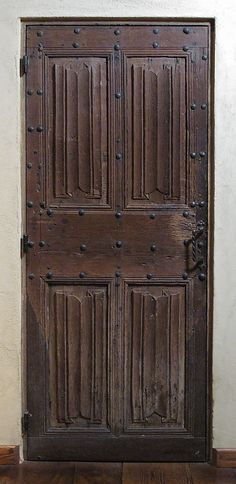 Door, made from oak. French, circa late 15th century