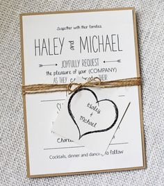 Whimsical Wedding Invitation Rustic Chic Wedding by LoveofCreating