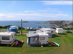 Camping at Bay View, Looe Cornwall Looe Cornwall, Camping Cornwall, Caravans, Campsite, Recreational Vehicles, Spaces, Camping, Camper, Campers