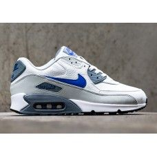new products 2590a 6b6c0 PurchaseNike Air Max 90 - Cheap Mens Nike Air Max 90 Leather Summit White  Lion Blue Grey Mist Trainer Men Hot