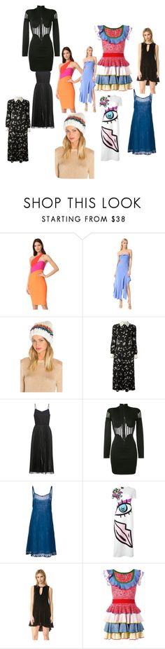 """offer of the set"" by denisee-denisee ❤ liked on Polyvore featuring Thierry Mugler, Jonathan Simkhai, Free People, Yves Saint Laurent, Victoria, Victoria Beckham, Balmain, Dosa, Boutique Moschino, Alexander McQueen and vintage"