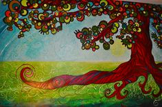Funky tree 5'x4' 2008.  Love the bright colors on this bad boy.